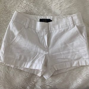 Jcrew white chino shorts